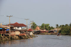 Scenery of Mae Klong River Royalty Free Stock Photos