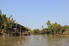 Scenery of Mae Klong River Royalty Free Stock Photography