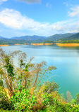 Scenery of man made lake at Sungai Selangor dam during midday Stock Images