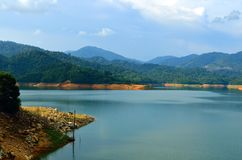 Scenery of man made lake at Sungai Selangor dam during midday.  Stock Images