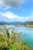 Scenery of man made lake at Sungai Selangor dam during midday Royalty Free Stock Photography