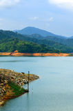 Scenery of man made lake at Sungai Selangor dam during midday Stock Image