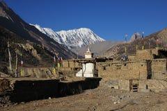 Scenery in Manang, Nepal Royalty Free Stock Photo