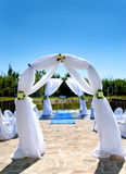 Scenery for marriage ceremony Stock Photography