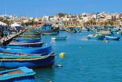 Scenery from Marsaxlokk, Malta Royalty Free Stock Photo