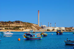 Scenery from Marsaxlokk, Malta Stock Photography