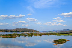 Scenery on the Mekong River Stock Photography