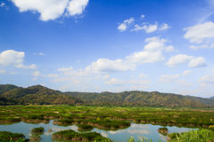 Scenery on the Mekong River Royalty Free Stock Photos