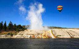 The scenery at Midway Geyser Basin in Yellowstone Royalty Free Stock Image