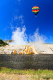The scenery at Midway Geyser Basin in Yellowstone Royalty Free Stock Photos