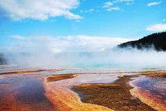 The scenery at Midway Geyser Basin Stock Images