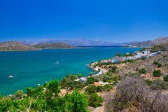 Scenery of Mirabello Bay on Crete. Greece Royalty Free Stock Photography