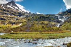 Scenery in the Mjoifjordur, Iceland Stock Photo
