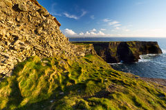 Scenery of Moher Cliffs. Cliffs of Moher in Co. Clare, Ireland Royalty Free Stock Images