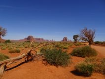 Scenery in Monument Valley, Utah, USA. Beautiful scenery in Monument Valley in Utah, USA in navajo reserve Royalty Free Stock Photo