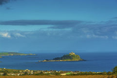 Scenery of mount st michael island fortress. Mount st michael island fortress near penzance at Cornwall Royalty Free Stock Photos