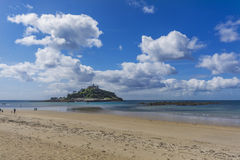 Scenery of mount st michael island fortress Royalty Free Stock Photo