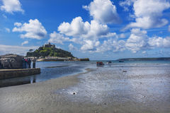 Scenery of mount st michael island fortress Stock Photography