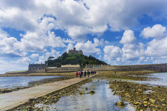 Scenery of mount st michael island fortress Royalty Free Stock Image