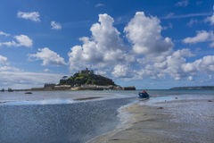 Scenery of mount st michael island fortress Stock Image