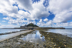 Scenery of mount st michael island fortress Stock Photos