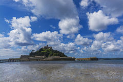 Scenery of mount st michael island fortress Royalty Free Stock Photography
