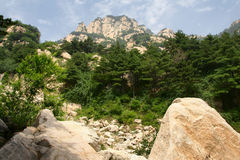 Scenery of Mount Taishan Stock Photos