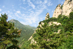 Scenery of Mount Taishan stock photography