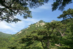 Scenery of Mount Taishan Royalty Free Stock Photo