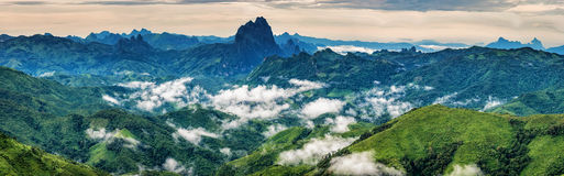 Scenery with mountain peaks. Stock Photography