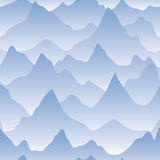 Scenery with mountain ridges and fog Royalty Free Stock Images