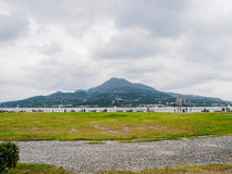 Scenery of mountain and Tamsui River in Taiwan Royalty Free Stock Photos