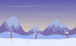 Scenery mountain at winter background game Royalty Free Stock Photography