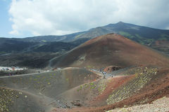 Scenery from Mt Etna Royalty Free Stock Photo