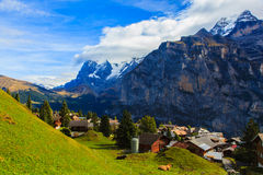 Scenery in Murren Royalty Free Stock Photo