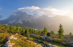 Scenery nature Alps in Italy Royalty Free Stock Photo