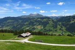 Scenery near Gstaad Stock Images