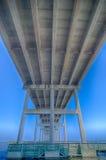 Scenery near roanoke sound bridge Royalty Free Stock Images