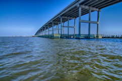 Scenery near roanoke sound bridge Royalty Free Stock Photography