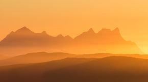 Scenery of Northen Norway Sunset Stock Image