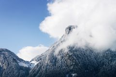 Free Scenery Of Romantic Alps Snow Landscape And Clouds Mayrhofen Tirol Royalty Free Stock Photography - 156861477