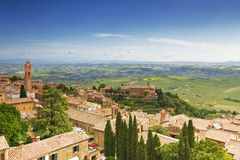 Scenery of old town of Montalcino Royalty Free Stock Images