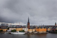 Scenery of the Old Town in Stockholm Stock Photos