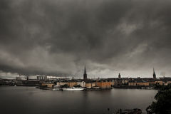 Scenery of the Old Town in Stockholm Royalty Free Stock Photography
