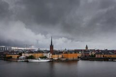 Scenery of the Old Town in Stockholm Stock Photo
