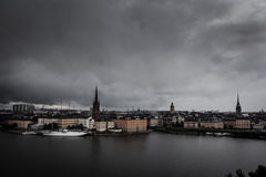 Scenery of the Old Town in Stockholm Royalty Free Stock Photo