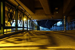 Scenery of Overpass at Night. Scenery of Overpass at Night Background Royalty Free Stock Photos