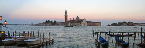 A scenery panorama of  Venice Italy Stock Image