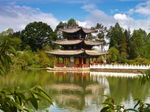 A scenery park in Lijiang China #2 Stock Photography