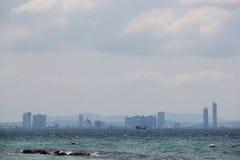 Scenery of Pattaya from Larn Island, Thailand Royalty Free Stock Photos